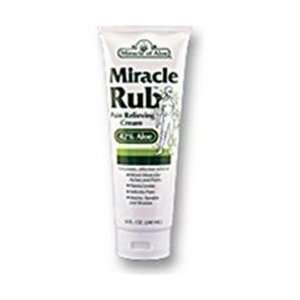 New   Miracle Rub Pain Relieving Cream, 42% Aloe 4 oz tube
