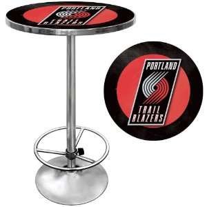 NBA2000 PTB   Portland Trail Blazers NBA Chrome Pub Table