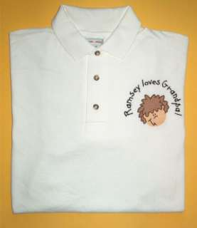 Personalized Grandpa Daddy Dad Father FACES POLO Shirt