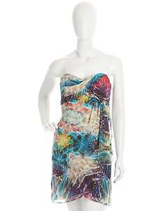 Nicole Miller Multicolor Printed Dress