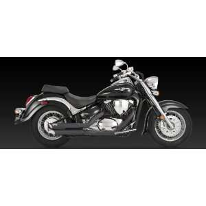 VANCE & HINES TWIN SLASH STAGGERED SYSTEM BLACK 05 09 SUZUKI VS800GL