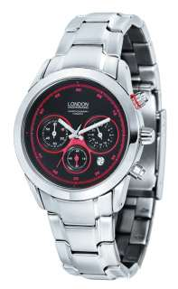 Mens Black Chrono Watch London Underground LU 101020 B