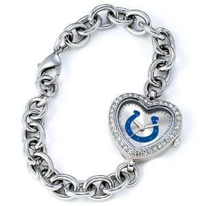 Ladies NFL Indianapolis Colts Heart Watch Jewelry