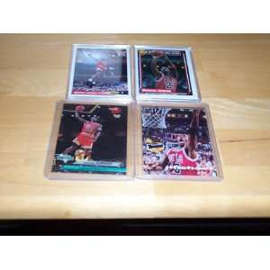 Michael Jordan lot of 4 cards 1992/93 topps 50 point club #205, 92/93