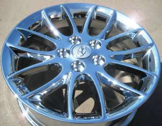 NEW 2011 17 FACTORY HYUNDAI GENESIS OEM CHROME WHEELS RIMS EXCHANGE