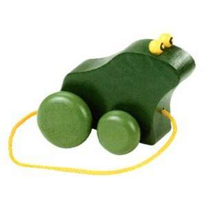 croak along frog Wooden pull toy Toys & Games