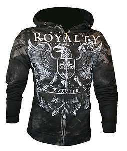 NEW XZAVIER ROCK & ROLL ROYALTY BATTLE ARMOR HOODIE HOOD SWEATSHIRT