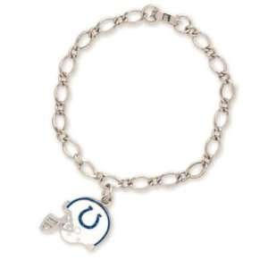 Indianapolis Colts Official Logo Silver Charm Bracelet