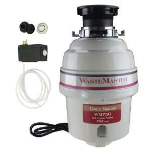 WasteMaster 3/4 HP Disposal with Stainless Steel Air Switch Kit WM75G