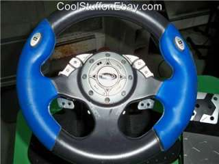UNIVERSAL (PS2, XBOX, GAMECUBE) RACING/DRIVING STEERING WHEEL & PEDALS