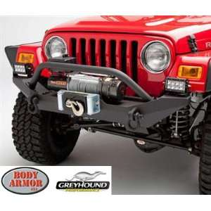 Body Armor TJ 19531 Sheet Metal Design Front Bumper for