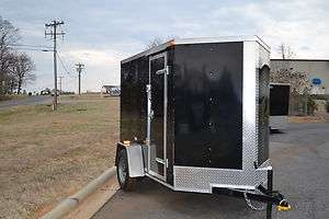 NEW 5X8 Motorcycle Enclosed Cargo Trailer with Ramp *ANY COLOR, NO
