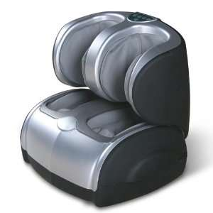 Air Pressure Leg, Foot, Ankle, and Calf Massager (Silver
