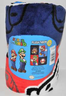 NEW NINTENDO SUPER MARIO PLUSH THROW BLANKET