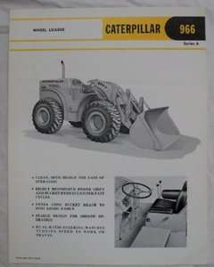 Caterpillar 1963 966A Wheel Loader Brochure