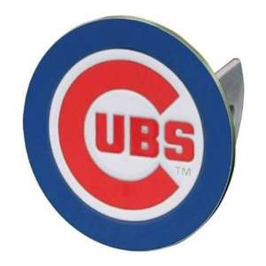 Chicago Cubs MLB Pewter Logo Trailer Hitch Cover Sports