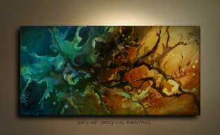 ABSTRACT ART PAINTING Modern M.Lang certified Original