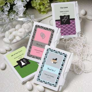96 Personalized Notebook Wedding Party Favors