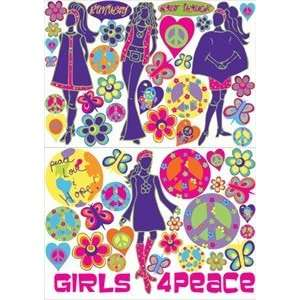 Fashion Models Peace Sign Art Wall Decal