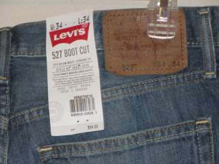 NWT $54 LEVIS 527 BOOT CUT DISTRESSED WASHED OUT JEANS