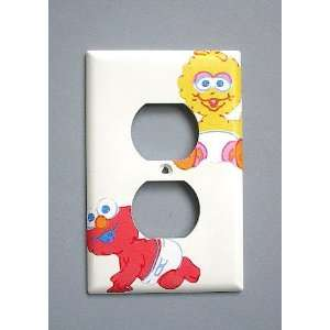 Sesame Street Baby Big Bird Elmo OUTLET Switch Plate