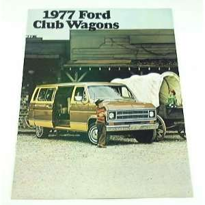 1977 77 Ford CLUB WAGON Van BROCHURE Chateau Custom