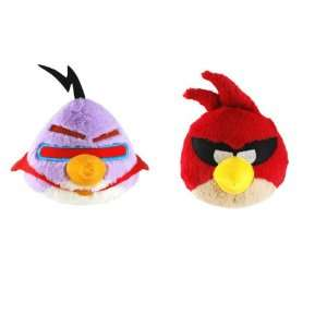 Angry Birds Space 8 Plush Set Of 2 (Super Red Bird and Purple Bird