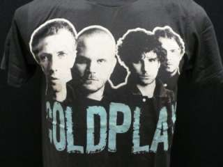 Coldplay music alternative rock band men black t shirtS
