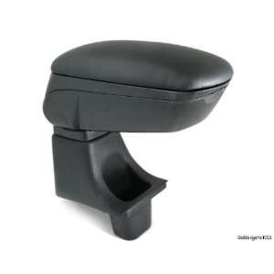 Blk Leather Center Console Armrest for Honda 09 10 Fit