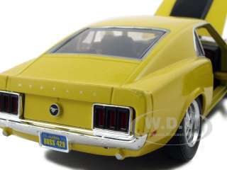 1970 FORD MUSTANG BOSS 429 YELLOW 124 DIECAST MODEL