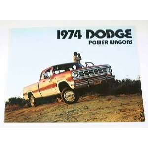 1974 74 DODGE PICKUP Truck Power Wagon BROCHURE W100 W300