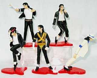 New 5 Pcs Michael Jackson MJ 5 Styles Figure Box Set