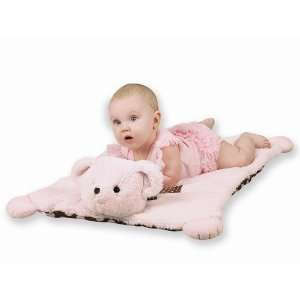 Posh Dots Pink Personalized Belly Blanket Baby
