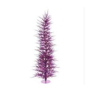 5 Pre Lit Whimsical Purple Artificial Laser Christmas