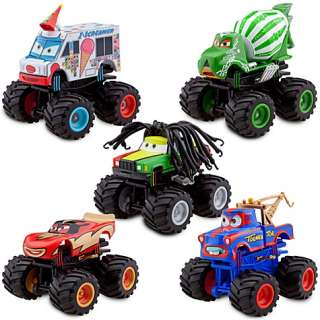 Pixar Cars Deluxe Monster Truck Mater Figure Set    5 Piece Set
