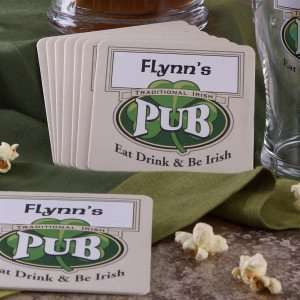 Irish Pub Personalized Bar Coasters