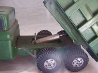 Buddy L Green Hydraulic Dump Truck Collectible Toy Pressed Steel