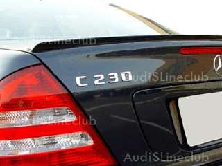 Painted Mercedes Benz W203 Trunk lip spoiler 4d 01 00 $