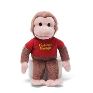 8 Gund Curious George Plush Doll Toy   Red Shirt Toys & Games