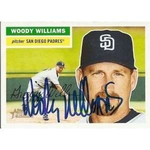 Woody Williams Signed Padres 2005 Topps Heritage Card