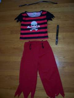 Teen Girls HIP PUNK PIRATE Halloween Costume skull 8 10