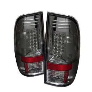 Ford Super Duty / F250 08 09 LED Tail Lights   Smoke (Pair