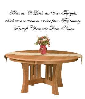 Catholic Prayer Bless us O Lord Vinyl Wall Art Words Decals Stickers