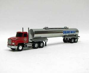 64 Stainless Steel Milk Tanker Red Mack Truck NIB USA