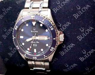 BULOVA MARINE STAR BLUE DIAL BEZEL 200 METER WATCH MEN
