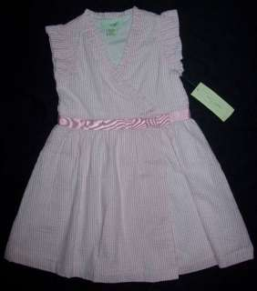 New Girl LUCY SYKES Pink Stripe Seer Sucker Dress Sz 5