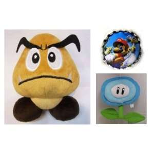 Hard to Find Super Mario Brothers Goomba 5 Plush Doll and 6 Mario