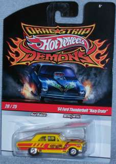 HOT WHEELS Drag Strip Demons 64 Ford Thunderbolt Nazy Crate #20 Real