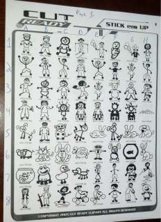 Stick Figure Family People Paw prints decal sticker $1.20 EACH figure