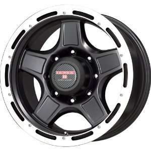 Level 8 Matte Black Wheel with Machined Lip (17x9/5x114